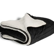 600 sherpa blanket black open