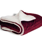 600 sherpa blanket burgandy open