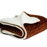 600 sherpa blanket chocolate open
