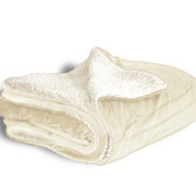 600 sherpa blanket cream open