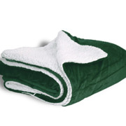 600 sherpa blanket forest green open