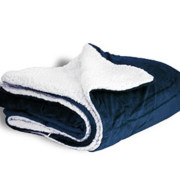 600 sherpa blanket navy open