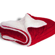600 sherpa blanket red open