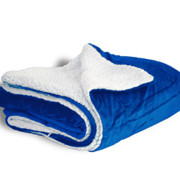 600 sherpa blanket royal blue open