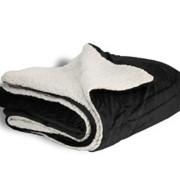 600 sherpa blanket black open
