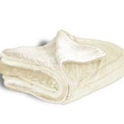 600 sherpa blanket cream open