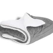 600 sherpa blanket gray open
