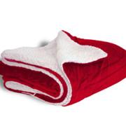 600 sherpa blanket red open