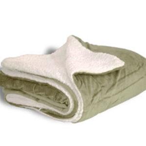 600 sherpa blanket sage open